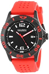 Haurex Italy Men's 3N500URN Factor Black Ion-Plated Coated Stainless Steel Rotating Bezel Date Watch