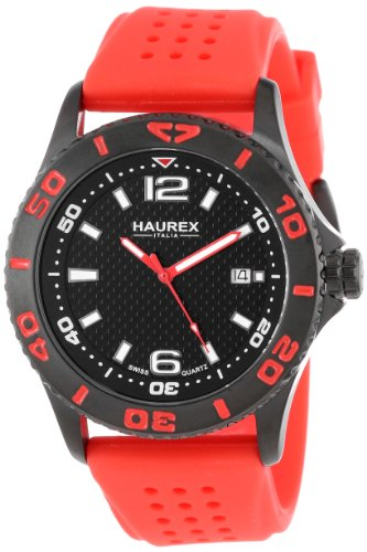 Haurex Italy Men's 3N500URN Factor Black Ion-Plated Coated Stainless Steel Rotating Bezel Date (Date Rotating Bezel)