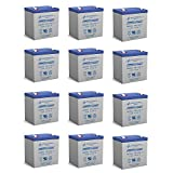 rbc 8000 - Powersonic 12V 5AH Battery Replaces Eagal 8000/8000DL Control Panel - 12 Pack
