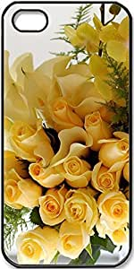 iPhone 5/5s Case Yellow-Roses-Calla-Lilies-And-Orchids Case for Black iPhone 5 iPhone 5s