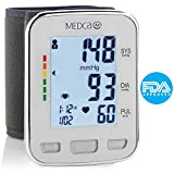Blood Pressure Cuff Wrist - Blood Pressure Monitor and Portable Fully Automatic BP Machine Band with Large LCD Display for Fast Accurate Reading by MEDca
