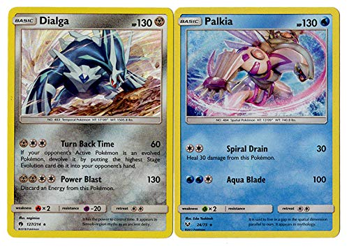 (Dialga & Palkia Legendary Card Set 127/214 & 24/73 - Shining Legends 2 Card lot)