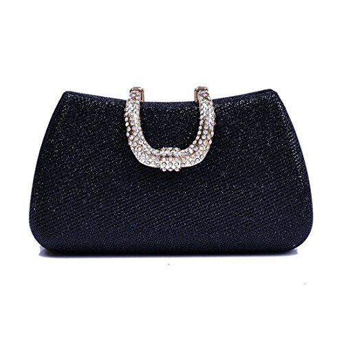 Mallty Para Diamantes Mujeres Black Color Black color Noche Bolso De Imitación Sólido Embrague rwFZ8rqxn