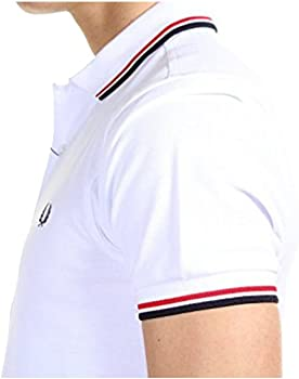 Fred Perry - Polo - con Botones - para Hombre Blanco Large: Amazon ...