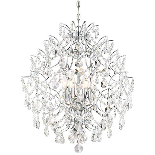 Six Accents Chandelier Light (Minka Lavery 3157-77 Chandelier Isabella's Crown, 6-Light 360 Watts, Chrome, Image)