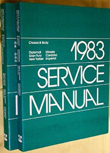 1983 Cordoba Fifth Avenue Imperial Shop Service Repair Manual Engine - Shop 5th Avenue