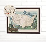 National Park Push Pin USA Travel Map Art