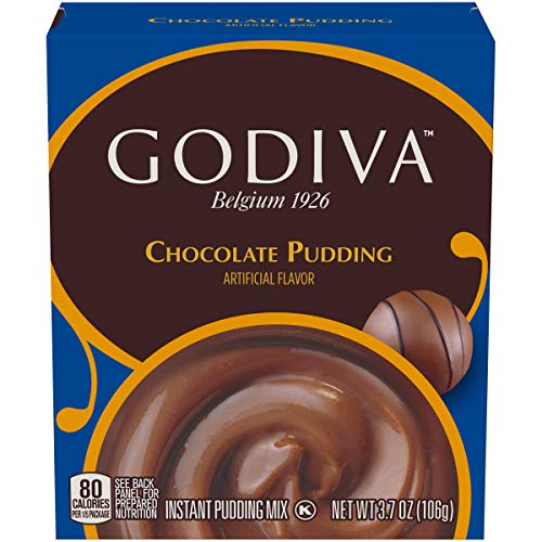 Godiva Milk Chocolate Instant Pudding Mix (3.7 oz Box)