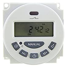 SODIAL(R) DC 12V Digital LCD Programmable Timer Relay Time of Weekly Electronic Programmable Electronic Timer Switch