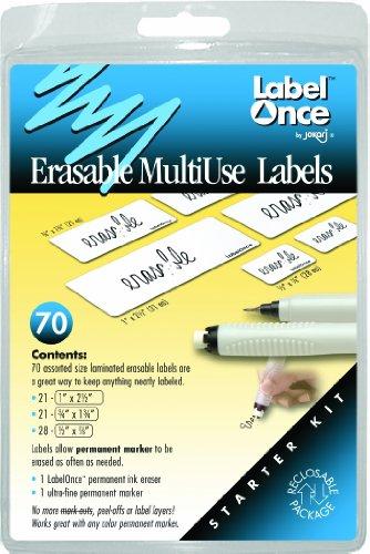 Jokari Label Once Erasable Multi-Use Labels Starter Kit - Jokari Erasable Food Labels