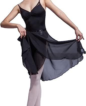 Hoerev Kvinnor flickor vuxen skir wrap kjol balettkjol balettdans danskläder