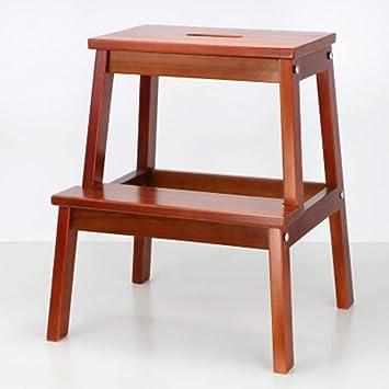 Step stool Taburete de pie Taburete de cambio de zapatos Taburete de pie Taburete de pie de madera Escalera de pie sillas plegables/Café: Amazon.es: Bricolaje y herramientas