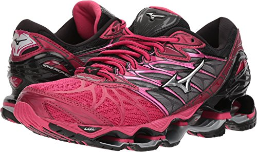 Mizuno Women's Wave Prophecy 7 Running Shoe, Bright Rose/Silver, 8 B (Womens Prophecy Sport Shoe)