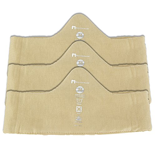 Hypoallergenic Bamboo/Cotton Bra Liner (Beige, 3-pack, M) - Protects sensitive ()
