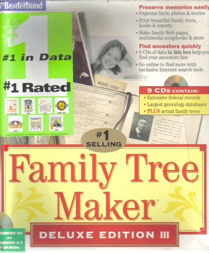 amazon com family tree maker deluxe edition iii