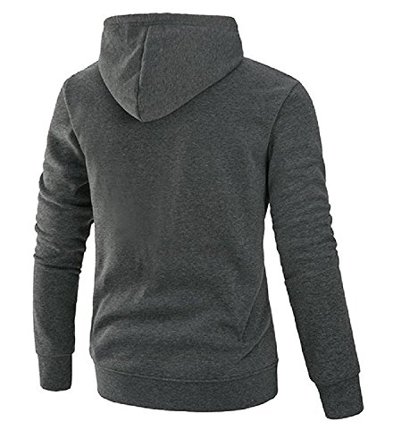 Shining4U Fashion Men Solid Slim Fit Simple Basic Wild Hoodies Sweater Pullover Dark GreyUS Medium=China Large by Shining4U novelty-hoodies