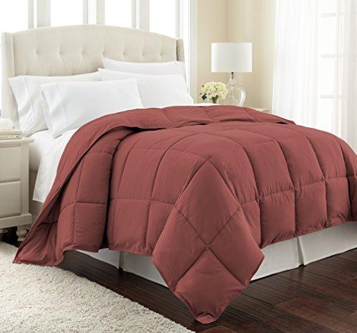 Southshore Fine Linens - Vilno Springs - Down Alternate Medium Weight Comforter - Marsala (Terra Cotta), FULL / (Red Medium Weight)