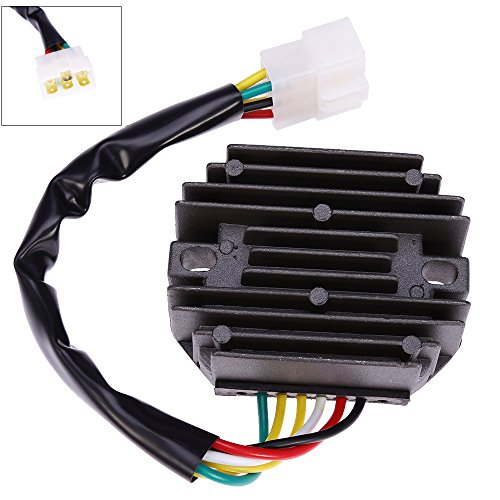 (Voltage Regulator Rectifier and Repair Plug for John Deere 240, 245, 265 Lawn Tractor, 345, F525, F735, Gx345, Lx176, X495, X575, X700, X720, Cs Cx Ts Gator Replace# AM108848 AM126304 M70121 M97348 )