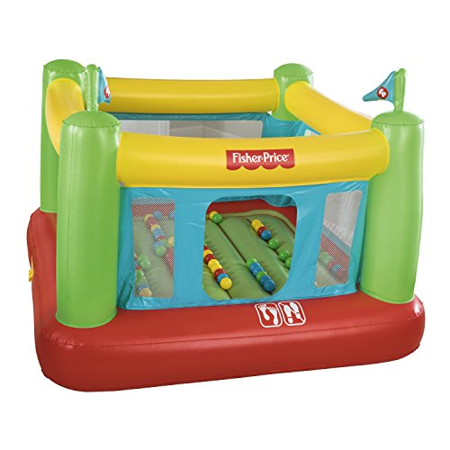 Fisher-Price 93532E Bouncesational Bouncer - Inflatable Bounce House, Green, Yellow, Red, ()