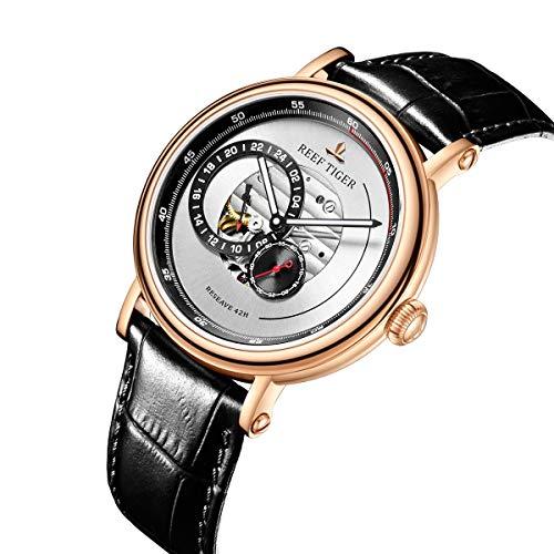 Reef Tiger 2018 Fashion Design Watch Men Waterproof Luxury Rose Gold Miyota Automatic Watches RGA1617