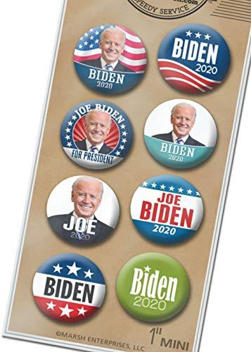 (Marsh Enterprises 8-PACK MINI buttons - Joe BIDEN for President 2020 Lapel Pins Assorted - Design #6004)