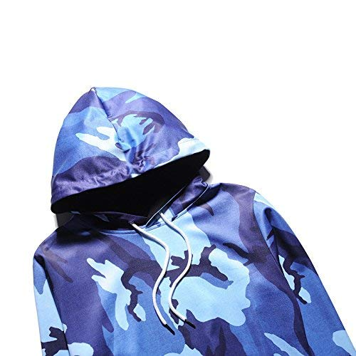 Con Invernali Blau Pullover Lunga Relaxed Cappuccio Casual Mujeres 3d Manica Digitalmente Sweatshirts Hoody Classiche Donna Ragazze Incappucciato Autunno Felpe Moda Stampato I0q55R