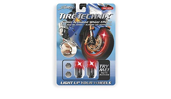 Amazon.com: Street FX LED TIRE LIGHT HEX 2/PK RED Lighting Tire Technix Motion Activated Wheel EffecHEX RED - 1042197: Automotive