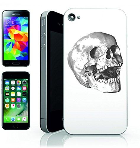Smartphone Case ossa della festa di Halloween di scheletro del cranio per APPLE IPHONE 4/4S, 5/5S, 5C, 6/6S, 7& Samsung Galaxy S4, S5, S6, S6Edge, S7, S7Edge Huawei HTC–Divertimento Motiv di c