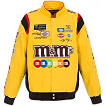 2018 Kyle Busch M&M's Mens Yellow Twill Nascar Jacket by JH Design