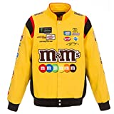 #5: 2018 Kyle Busch M&M's Mens Yellow Twill Nascar Jacket by JH Design
