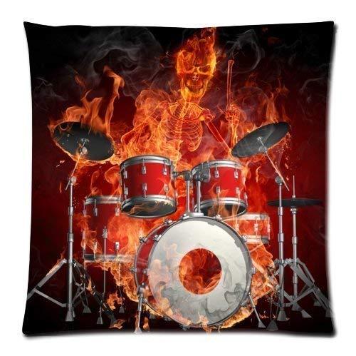 - LODRR Pillow case Personalized Cool Rock Drum Set£¬Classic Drum kit Musical Instrument Pattern Soft Satin Bolster case Pillowcase,Zipper Pillow Cases 18