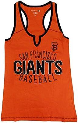 f1f6ace29 San Francisco Giants Women s Slub Jersey V-notch Racerback Tank Top