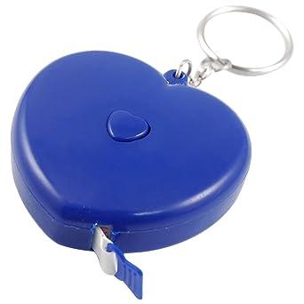 Azul diseño de corazones de plástico cinta métrica retráctil ...
