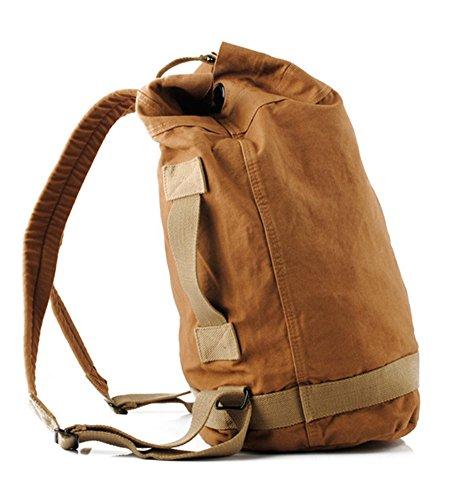 Drf Vintage Canvas Backpack Rucksack Casual Hiking Travel School Bag Bg 32  Brown