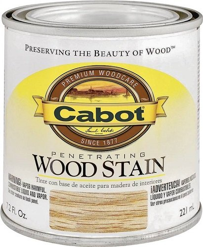 CabotStain 144 8132 HP 1/2 Pint Interior Oil Wood Stain, Ebony
