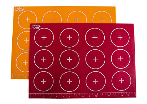 Kitchen + Home Silicone Baking Mats - Set of 2 Non-stick, BPA Free Food Grade Silicone Mat Liners for Half-Size Cookie Sheet with Measurements by Kitchen + Home (Image #7)
