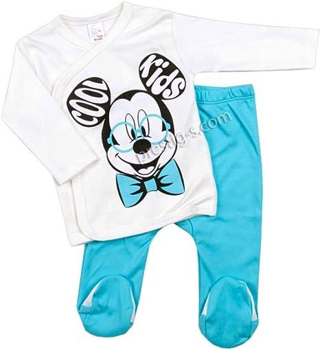 Juego de 2 piezas para bebé, 100% algodón, manga larga, camiseta y ...