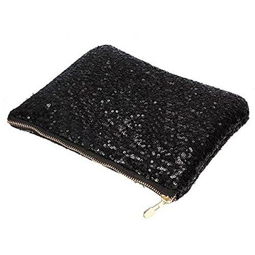 x 24 5cm Clutch Evening Bag Black Bags Ladies 15 5cm TRIXES CqFpO