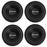 Q Power 4 QPF15 15 Inch 2200W Deluxe Series DVC Car Audio Power Subwoofers