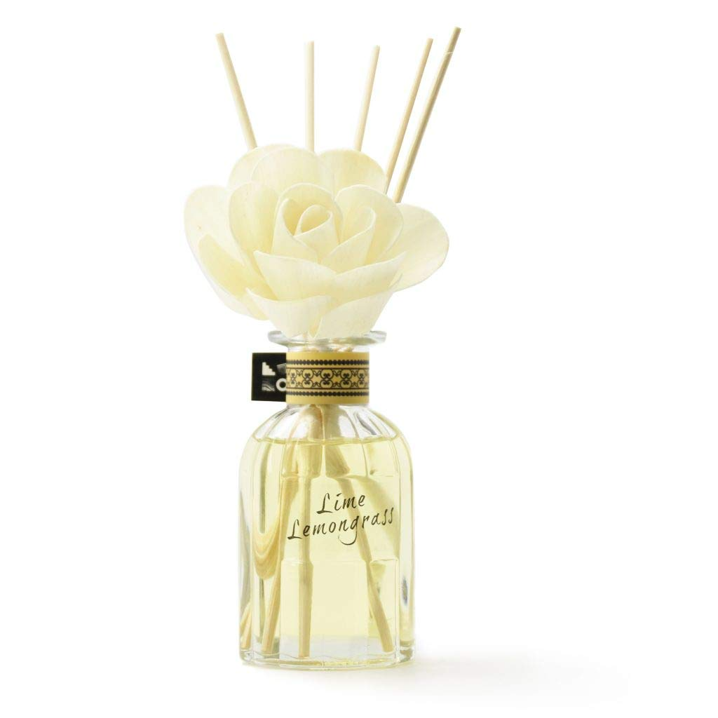 Aronica Classic Flower and Reed Diffuser 3.9 fl.oz/110 ml (Lime Lemongrass) by Aronica