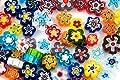 Devardi Glass COE 90 Millefiori Hi-Def Premium Fire-Polished Flower mix. 2 oz, JTMM8 Fusing, Mosaic