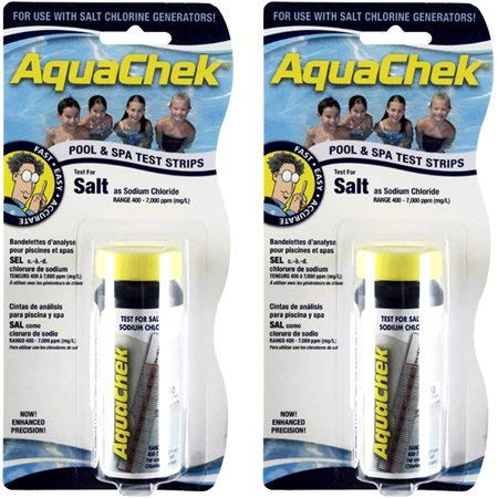 (AquaChek White Salt for Swimming Pools, 10 Strips - 2 ct)