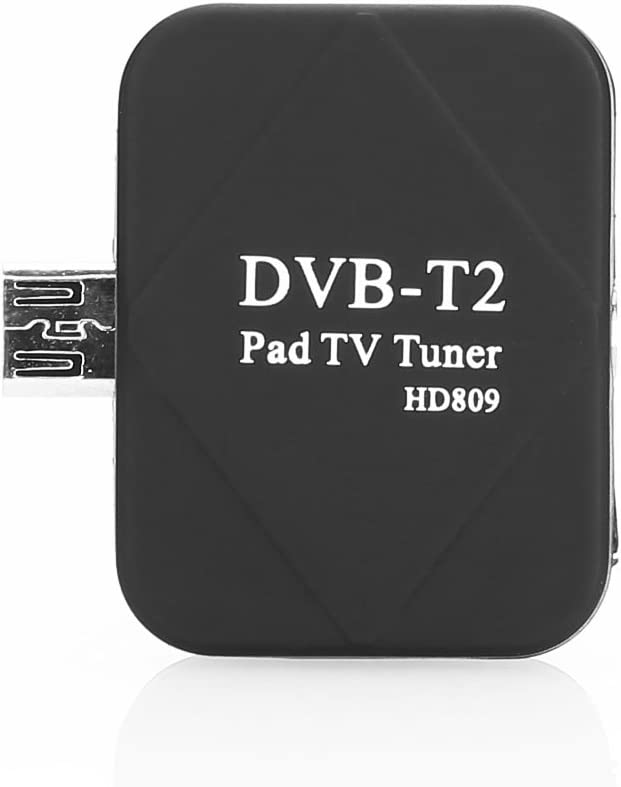 Cewaal USB DVB-T2 Live TV HDTV EPG Empf/änger Stick Antenne F/ür Android Compact BLACK