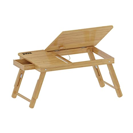 Amazon.com: T. Z. Mesa plegable de bambú para portátil, mesa ...