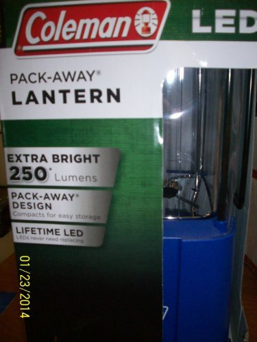 Away Pack Battery Coleman (Coleman Pack-Away LED Lantern)