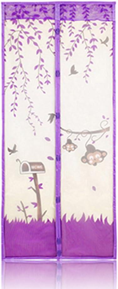 90X210CM aaerp 1/pcs 90 * 210/cm magn/étique /écran en Maille Porte Moustiquaire Rideau fen/être de Protection Cuisine Durable en Organza Multicolore Grille de Gaze Polyester Bleu