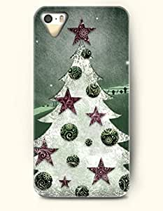 OOFIT Phone Case design with Christmas Series - Purple-green Christmas Decoration for Apple iPhone 4 4s 4g