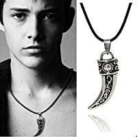 Punk Stainless Steel Men Domineering Wolf Tooth Shape Pendant Necklace Jewelry