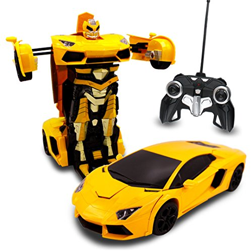 Transforming-Autobots-RC-Toy-Transforming-Robot-Remote-Control-Sports-Car-with-One-Button-Transforming-and-360-Drifting-114-Scale-Yellow