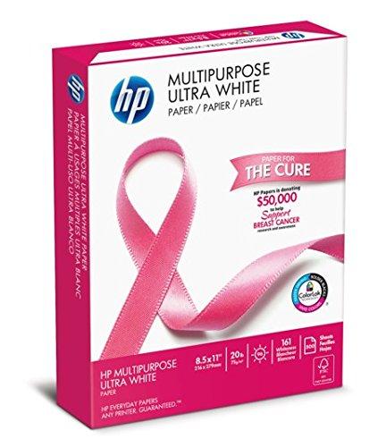 HP Printer Paper, Multipurpose20, 8.5 x 11, Letter, 20lb, 96 Bright, 500 Sheets / 1 Ream (112000PR) Made In The USA